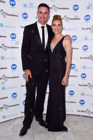 London, England, 9th June 2016: Kevin Pietersen and Jessica Taylor Attend the Kp24 Foundation Charity Gala Dinner Arrivals at the Waldof Astoria, London On the 9th June 2016.