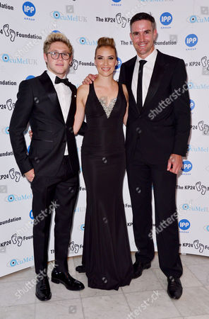 London, England, 9th June 2016: Niall Horan, Kevin Pietersen and Jessica Taylor Attend the Kp24 Foundation Charity Gala Dinner Arrivals at the Waldof Astoria, London On the 9th June 2016.