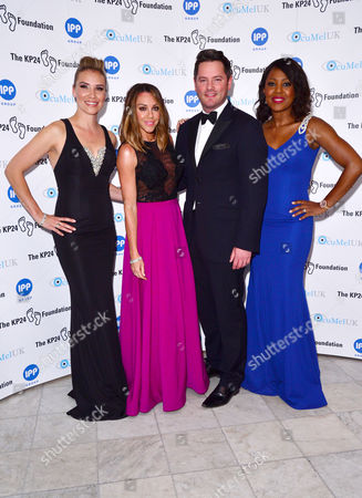 London, England, 9th June 2016: Jessica Taylor , Michelle Heaton, Tony Lundon and Kelli Young (liberty X) Attend the Kp24 Foundation Charity Gala Dinner Arrivals at the Waldof Astoria, London On the 9th June 2016.