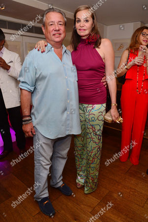 Stock Photo of London, England, 20th July 2016 Hamish Mcalpine, Carole Siller Attend the Official Launch of Limonbello by Nancy Dell?olio at the Club at the Ivy, London On the 20th July 2016