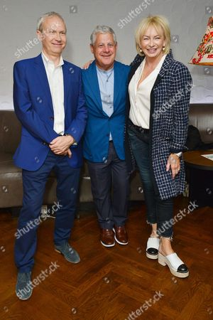 London UK 23rd May 2016 : Luke Johnson, Cameron Mackintosh and Judy Craymer Attend the Reception and Lunch Celebrating the 40th Anniversary of Stage On in London On 23rd May 2016