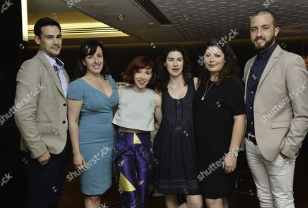 London UK 23rd May 2016 : Emma Brunjes, Daisy Lewis, Emily Dobbs and Nicola Seedat the Reception and Lunch Celebrating the 40th Anniversary of Stage On in London On 23rd May 2016.