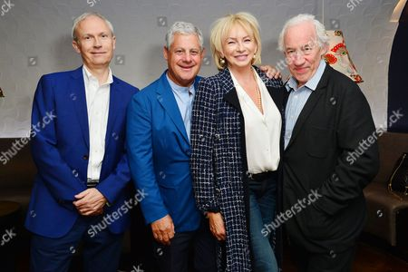 London UK 23rd May 2016 : Luke Johnson, Cameron Mackintosh, Judy Craymer, Simon Callow Attend the Reception and Lunch Celebrating the 40th Anniversary of Stage On in London On 23rd May 2016