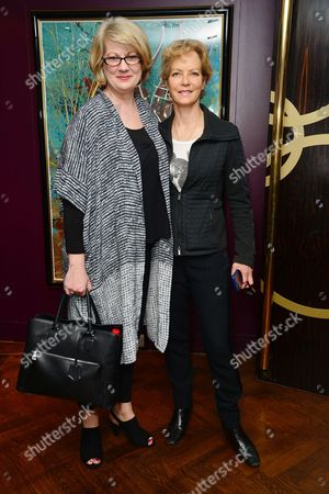 Stock Image of London UK 23rd May 2016 : Tracey Childs and Jenny Seagrove at the Reception and Lunch Celebrating the 40th Anniversary of Stage On in London On 23rd May 2016.