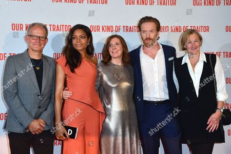 London Uk 5th May 2016: Actress Naomie Harris, Director Susanna White and British Actor Damien Lewis with Producers Gail Egan and Stephen Cornwell Attend the Uk Gala Screening of 'our Kind of Traitor', at the Curzon Mayfair in London, England. 5th May 2016.