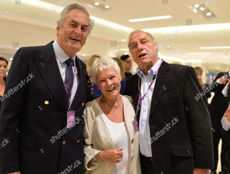 Shop with the Stars A Public Shopping Evening to Celebrate the Olivier Awards with Mastercard to Raise Funds & Awareness of the Theatrical Charity Acting For Others at Fenwick of Bond Street Paul Chapman Dame Judi Dench and Geoffrey Palmer