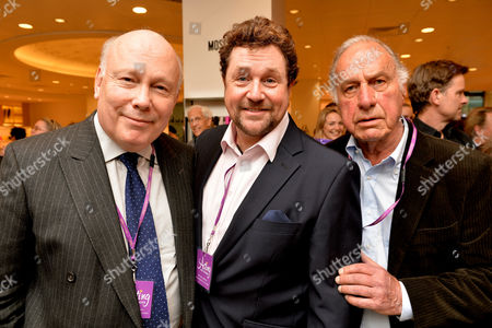 Shop with the Stars A Public Shopping Evening to Celebrate the Olivier Awards with Mastercard to Raise Funds & Awareness of the Theatrical Charity Acting For Others at Fenwick of Bond Street Julian Fellowes Michael Ball and Geoffrey Palmer