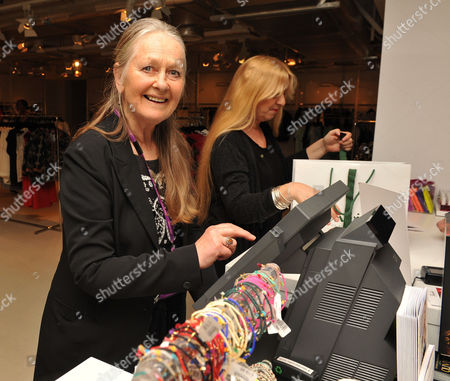Stock Image of Shop with the Stars A Public Shopping Evening to Celebrate the Olivier Awards with Mastercard to Raise Funds & Awareness of the Theatrical Charity Acting For Others at Fenwick of Bond Street Anna Carteret