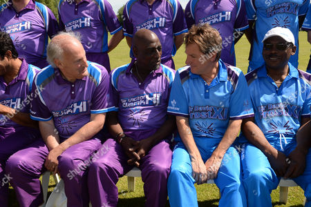 Sir Victor Blank Hosts His 25th Annual Cricket Match On the Grounds of His Oxfordshire Home Chippinghurst Manor This Weekend On Behalf of the Health Charity Wellbeing of Women Sir Victor Blank Sir Viv Richards Mark Nicholas & Gordon Greenidge