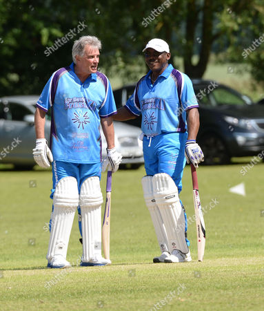 Sir Victor Blank Hosts His 25th Annual Cricket Match On the Grounds of His Oxfordshire Home Chippinghurst Manor This Weekend On Behalf of the Health Charity Wellbeing of Women Nigel Wray Entrepreneur Sports Enthusiast and Chairman of Saracens Rugby Football Club & Gordon Greenidge