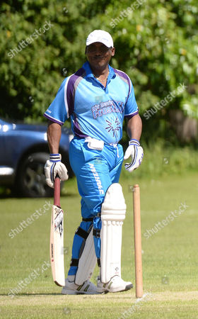 Sir Victor Blank Hosts His 25th Annual Cricket Match On the Grounds of His Oxfordshire Home Chippinghurst Manor This Weekend On Behalf of the Health Charity Wellbeing of Women Gordon Greenidge