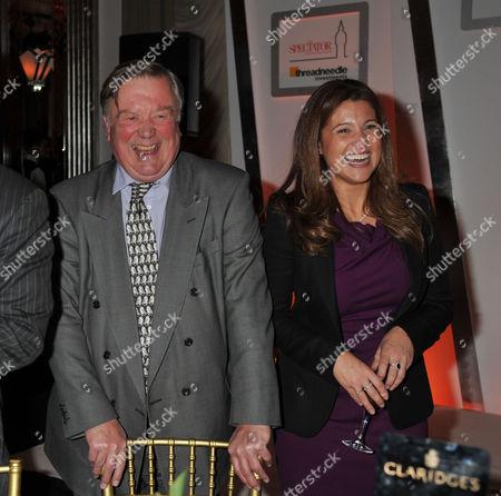 Spectator Threadneedle Parliamentarian Awards at Claridge's Hotel Ballroom Brook Street Mayfair Kenneth Clarke & Susan Nilsson