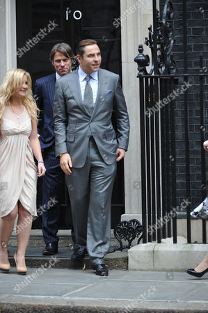 Former England Rugby Union Player Josh Lewsey Tv Presenter Helen Skelton and Comedians John Bishop and David Walliams Pose Outside Number 10 Downing Street the Four Celebrities Met with British Prime Minister David Cameron to Discuss Their Individual Efforts to Raise Money For the Sport Relief
