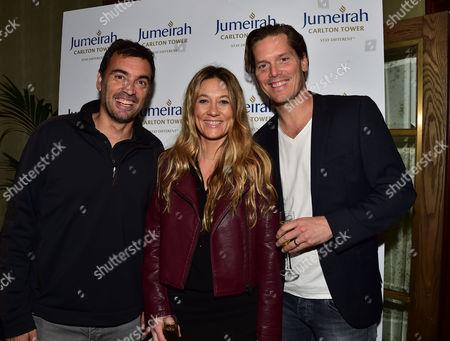 Statoil Masters Tennis Players Party in Jumeirah Carlton Tower's Rib Room Bar & Restaurant Sergi Bruguera & Thomas Enqvist
