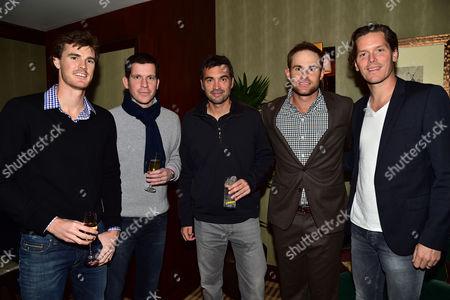 Statoil Masters Tennis Players Party in Jumeirah Carlton Tower's Rib Room Bar & Restaurant Jamie Murray Andy Rodick Sergi Bruguera & Tim Henman with Thomas Enqvist
