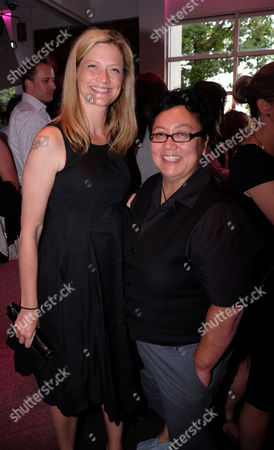 Stock Photo of Stonewall 25th Anniversary Summer Party at the Roof Gardens Kensington West London Sophie Ward with Her Partner Rena Brannan