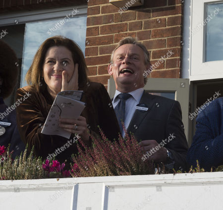 The 58th Hennessy Gold Cup at Newbury Racecourse Berkshire Martin Clunes and His Wife Philippa Braithwaite
