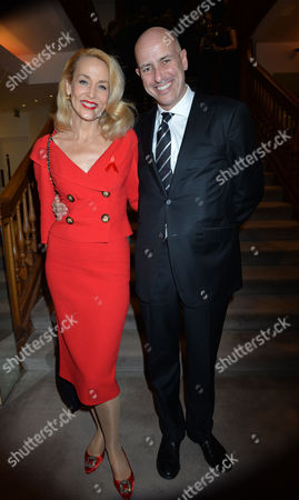 The Auction in Aid of the Terrence Higgins Trust at Christie's King Street St James London Jerry Hall and Armand Leroi