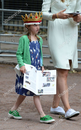 The Children of Laura and Harry Lopes the Grand Children of Camilla the Duchess of Cornwall Outside Clarence House the Mall St James London While the Trooping of the Colour Takes Place Eliza Lopes