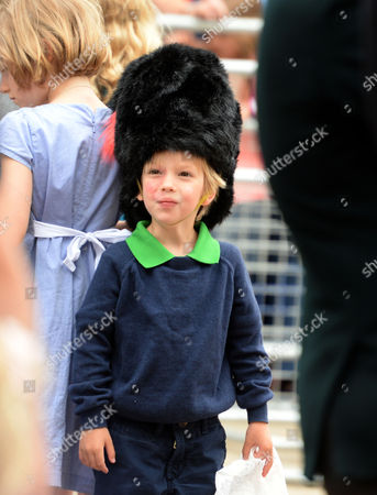The Children of Laura and Harry Lopes the Grand Children of Camilla the Duchess of Cornwall Outside Clarence House the Mall St James London While the Trooping of the Colour Takes Place Gus Lopes