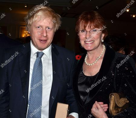 The Churchillian Award Dinner at the Marriott Hotel Grosvenor Square London Mayor of London Boris Johnson and Celia Sandys