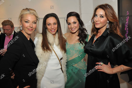 Lisa Snowdon & Laurie Wickwire of the Berkeley Diamond Group in Association with Tamara Beckwith & Ghislain Pascal of the Little Black Gallery Host the Closing Party of Bruno Bisang: 30 Years of Polaroids at the Little Black Gallery Park Walk Fulham London Tamara Beckwith Lily Becker Laura Wright & Lisa Snowdon
