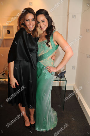 Lisa Snowdon & Laurie Wickwire of the Berkeley Diamond Group in Association with Tamara Beckwith & Ghislain Pascal of the Little Black Gallery Host the Closing Party of Bruno Bisang: 30 Years of Polaroids at the Little Black Gallery Park Walk Fulham London Lisa Snowdon & Laura Wright