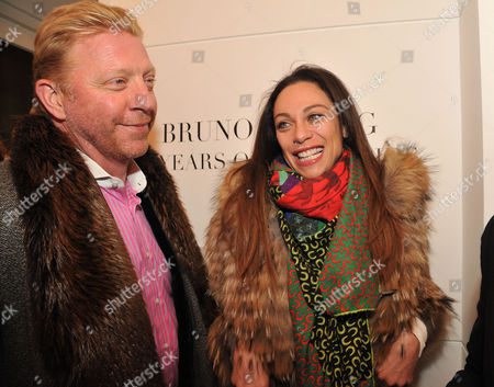 Lisa Snowdon & Laurie Wickwire of the Berkeley Diamond Group in Association with Tamara Beckwith & Ghislain Pascal of the Little Black Gallery Host the Closing Party of Bruno Bisang: 30 Years of Polaroids at the Little Black Gallery Park Walk Fulham London Boris Becker & Lily Becker