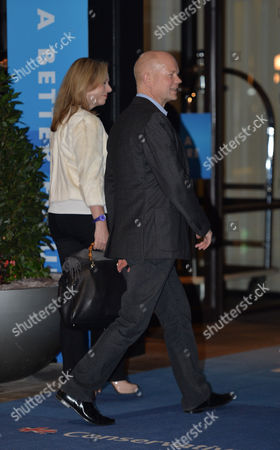 The Conservative Autumn Conference at the Hyatt Hotel & the Icc Birmingham Uk William and Ffion Hague Arrive at the Conference Hotel