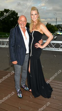The F1™ Party in Aid of Great Ormond Street Hospital Children's Charity at Battersea Evolution Chelsea Bridge Entrance Battersea Park London Aldo Zilli with His Wife Nikki