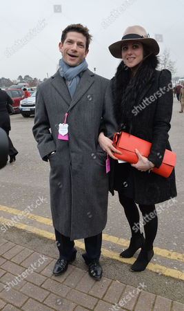 The Festival at Cheltenham Race Course Cheltenham Gloucestershire Sam Waley-cohen and His Wife Bella Ballin