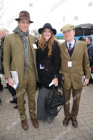 The Festival at Cheltenham Gold Cup Day Friday Ben Elliot His Wife Mary-clare Elliott & Her Father Stevie Winwood
