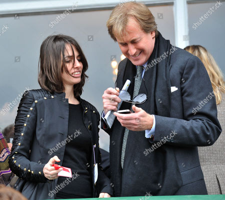 The Festival at Cheltenham Gold Cup Day Friday Marina Hanbury the Countess of Durham and Robin Hurlstone