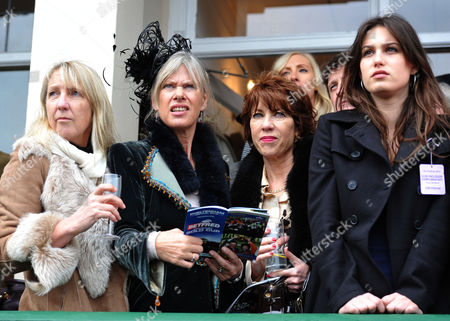 The Festival at Cheltenham Gold Cup Day Friday Nikki Moores Nettie Mason Kathy Lette & Lily Robinson