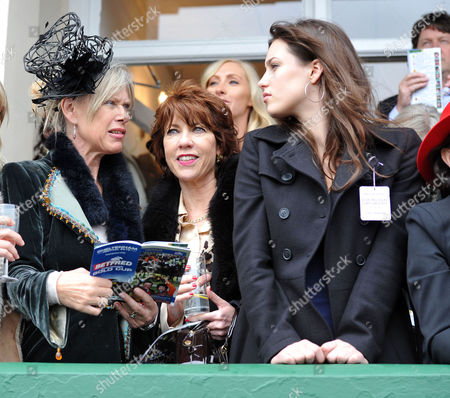 The Festival at Cheltenham Gold Cup Day Friday Nettie Mason Kathy Lette & Lily Robinson