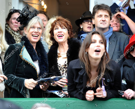 The Festival at Cheltenham Gold Cup Day Friday Nettie Mason Kathy Lette Lord Johnson Somerset & Lily Robinson
