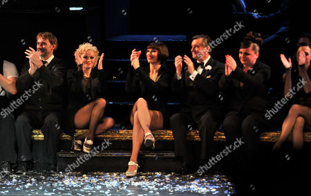 The Final Performance of Chicago After 15 Years On the London Stage at the Garrick Theatre Charing Cross Road London and After Party at the National Portrait Gallery Cafe Tony Timberlake As Amos Hart Rachel Mcdowall As Velma Kelly Sarah Soetaert As Roxie Hart Robin Cousins As Billy Flynn and Jasna Ivir As Marton ' Mama' Morton
