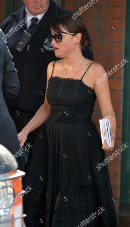 The Funeral of Peaches Geldof at St Mary Magdalene and St Lawrence Church in Davington Near Faversham Kent Jamie Winstone