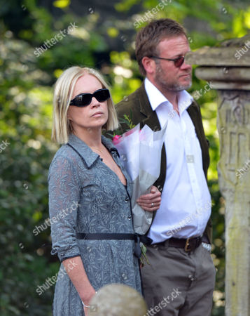 The Funeral of Peaches Geldof at St Mary Magdalene and St Lawrence Church in Davington Near Faversham Kent Mariella Frostrup with Her Husband Jason Mccue