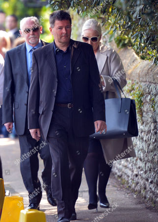 The Funeral of Peaches Geldof at St Mary Magdalene and St Lawrence Church in Davington Near Faversham Kent Guests
