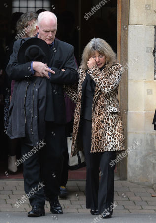 The Funeral of Singer Songwriter Lynsey De Paul at Hendon Cemetery & Crematorium Holders Hill Rd North London Suzi Quatro