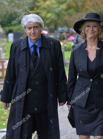 The Funeral of Singer Songwriter Lynsey De Paul at Hendon Cemetery & Crematorium Holders Hill Rd North London Tom and Kara Conti