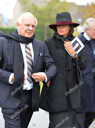 The Funeral of the Duke of Marlborough at Parish Church of St Mary Magdalene in Woodstock Oxfordshire Rolf Sachs and Debbie Von Bismarck