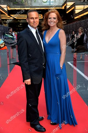 The Global Party at the Savoy Hotel the Strand London Patsy Palmer and Her Husband Richard Merkell