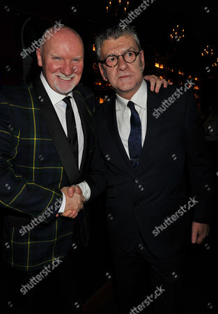 The Great Scot Awards at Boisdale Canary Wharf Sir Tom Hunter & Jack Vettriano
