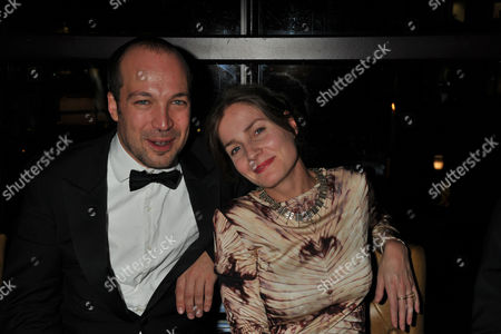 Stock Picture of The Great Scot Awards at Boisdale Canary Wharf Mylo ( Myles Macinnes ) with His Wife