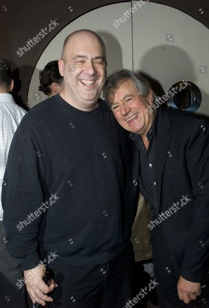 Stock Image of The Launch of 'Evil Machines' by Terry Jones the First Book to Be Crowd-funded by Readers and Published by Unbound Co Uk at the Adam Street Club Adam Street the Strand London Tibor Fischer & Terry Jones