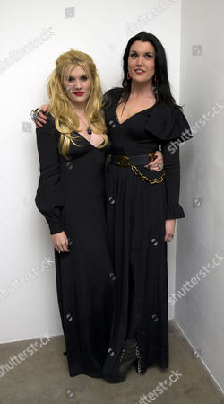 The Launch of Louise Fennell's Debut Novel 'Dead Rich' at White Cube Gallery Mason's Yard Off Duke Street St James's London Emerald Fennell and Her Sister Coco Fennell