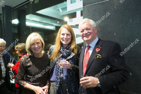 The Launch of Terence Donovan Fashion at the Photographers Gallery Ramillies Street London Diana Donovan with Her Daughter Daisy Donovan and Gavin Rankin