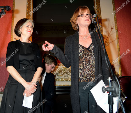 The Literary Review's Annual Bad Sex in Fiction Award Guest Presenter Samantha Bond Makes the Prevention to the Winners Agent the Winner Was Canadian Author Nancy Huston For Her 14th Work of Fiction Infrared